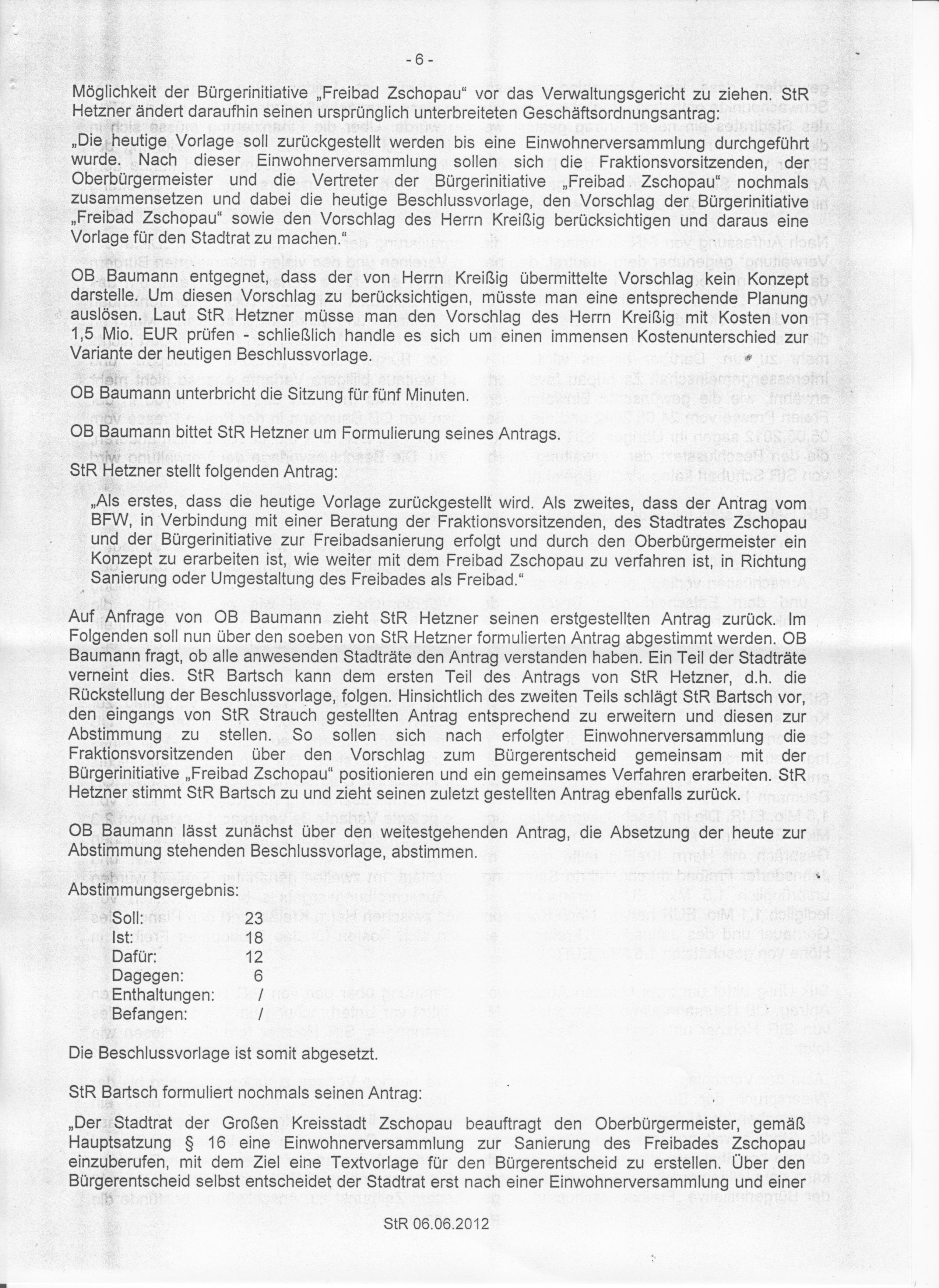 Bürgerinitiative Freibad Zschopau: Aktuelles
